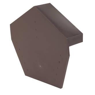 Image of Glidevale Brown Universal Dry Verge Angled Ridge Caps 2 Pack