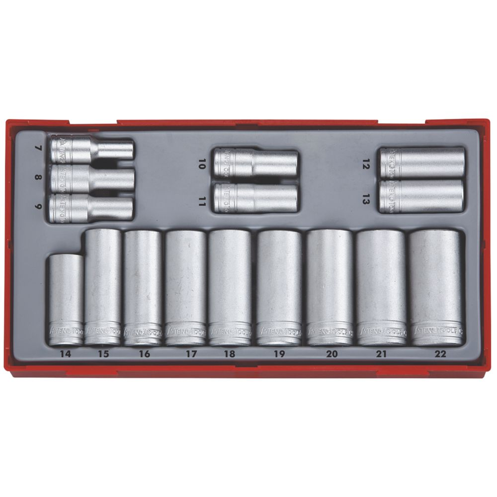 "Image of Teng Tools 3/8"" Deep Socket Set 16 Pieces"