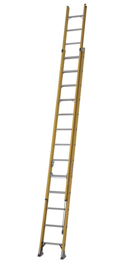 Image of ALFLO 77539 Double Extension Ladder 26 Rungs Max. Height 6.8m
