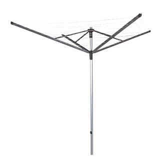 Image of Minky 60m Silver / Black Rotalift Multi-Height 4-Arm Rotary Airer