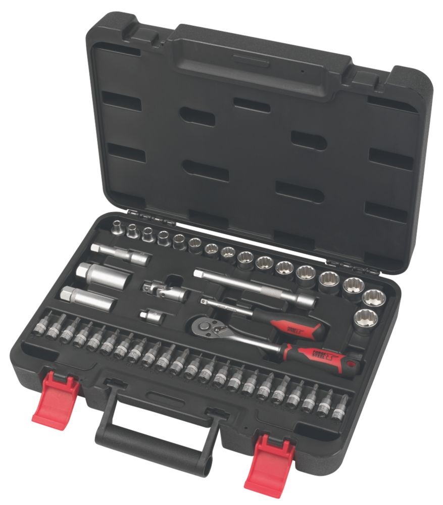 "Image of Forge Steel Socket Set 3/8"" 46 Pieces"