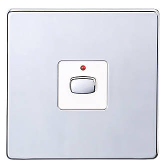 Image of Energenie 1-Gang 2-Way LED Dimmer Switch Polished Chrome