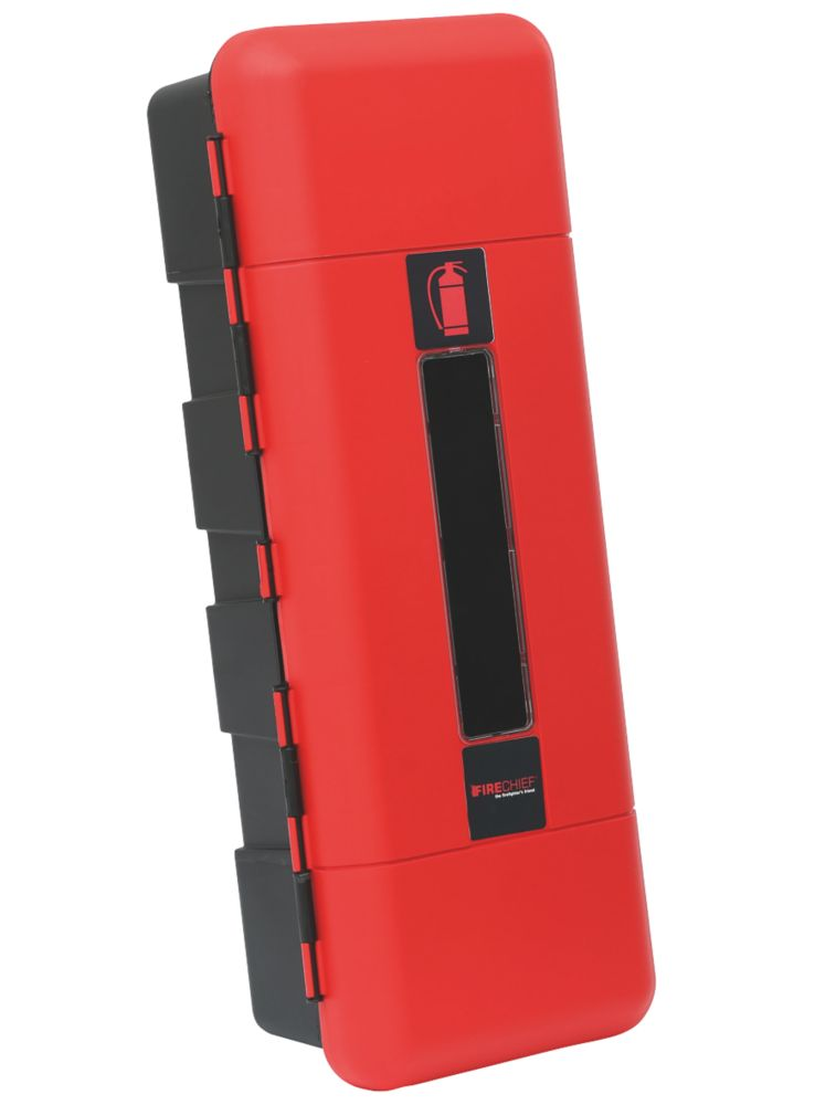 Image of Firechief 106-1002 Single Extinguisher Cabinet 12kg 335 x 240 x 865mm Red / Black