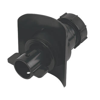 Image of McAlpine Mechanical Pipe Boss Connector Black 32mm