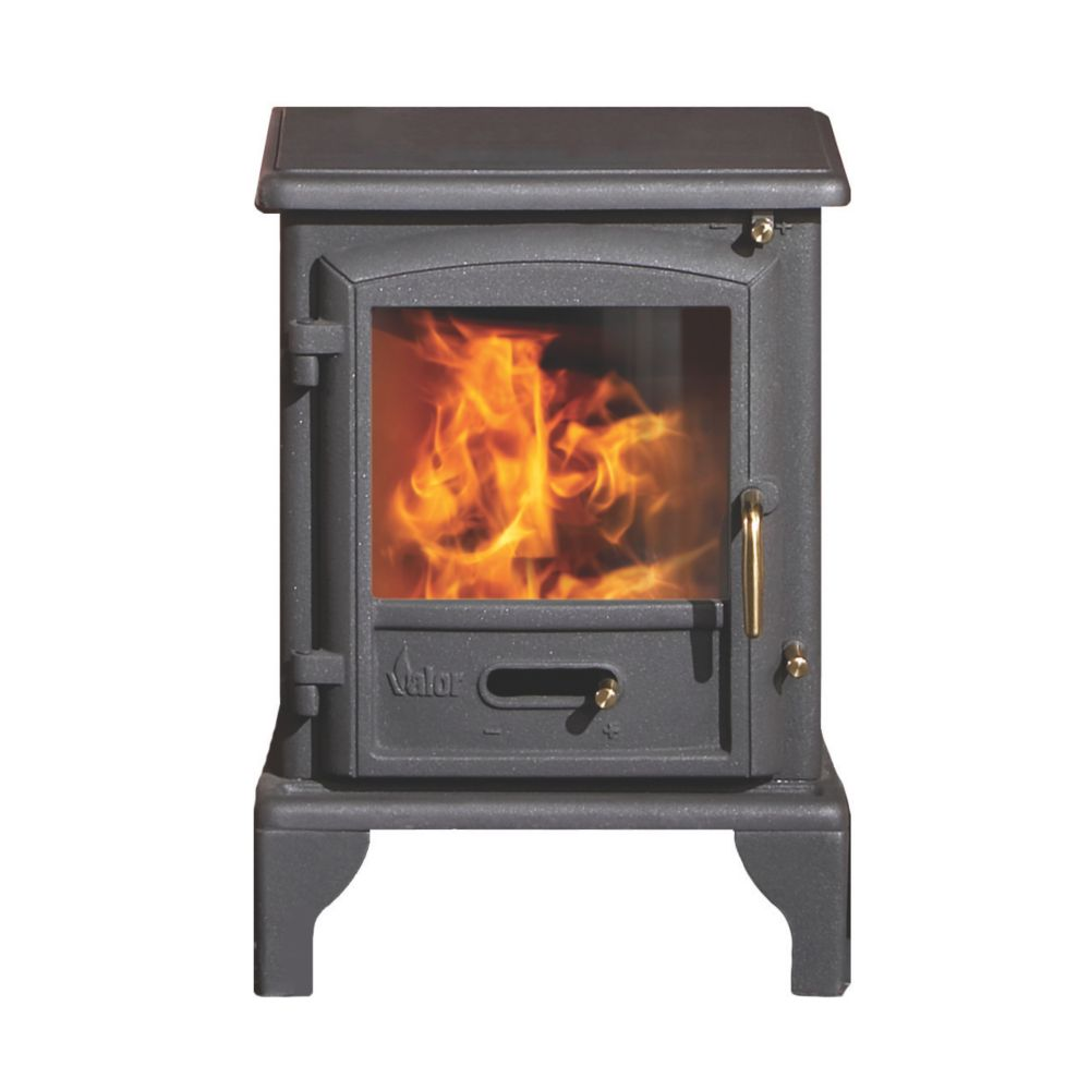 Image of Valor Brunswick Black Solid Fuel Stove