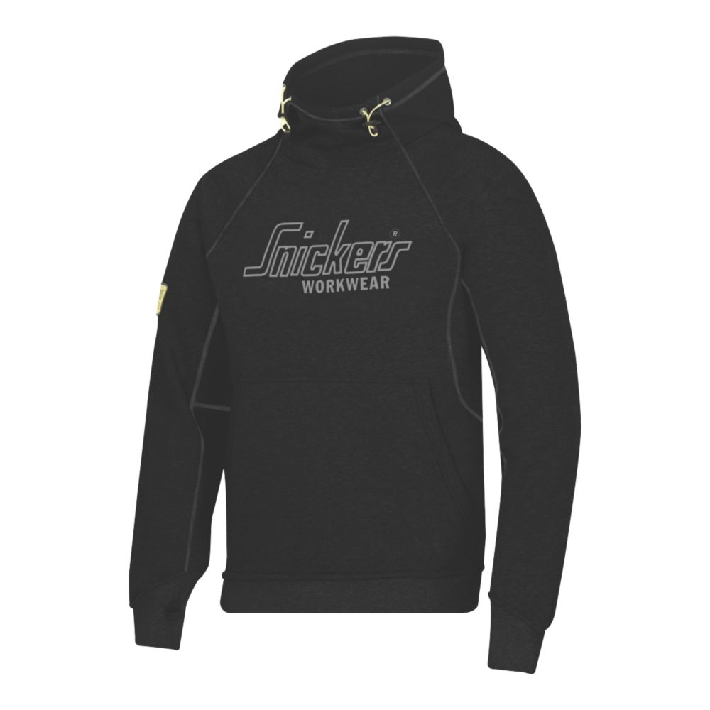 "Image of Snickers Logo Hoodie Black Medium 39"" Chest"