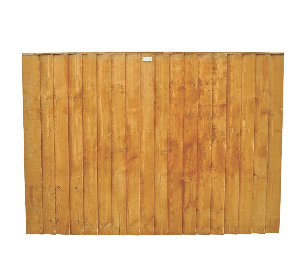 Image of Forest Feather Edge Fence Panels 1.82 x 0.9m 8 Pack