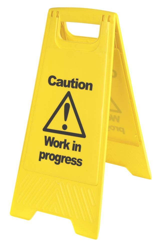 Image of Caution Work in Progress A-Frame Safety Sign 680 x 300mm