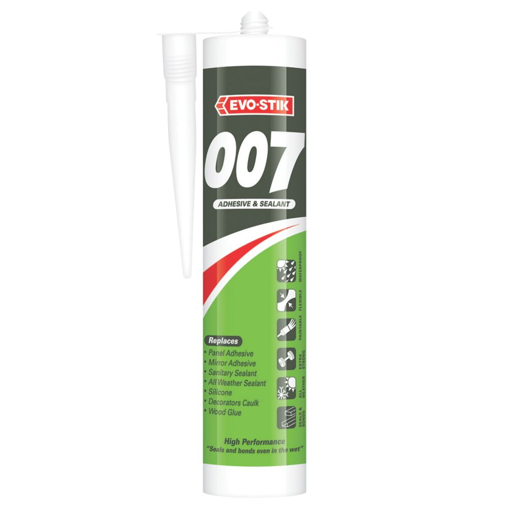Image of Evo-Stik 007 All-in-One Sealant & Adhesive White 290ml