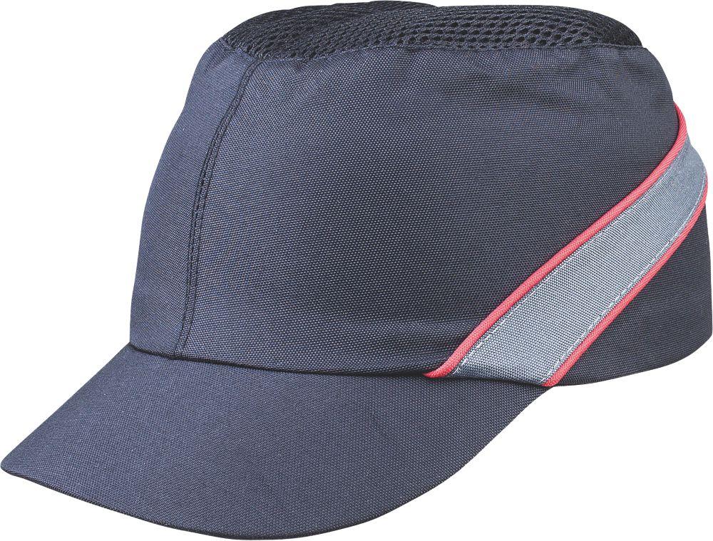 Image of Delta Plus COLTAAINOSH Short Peak Bump Cap Black / Red