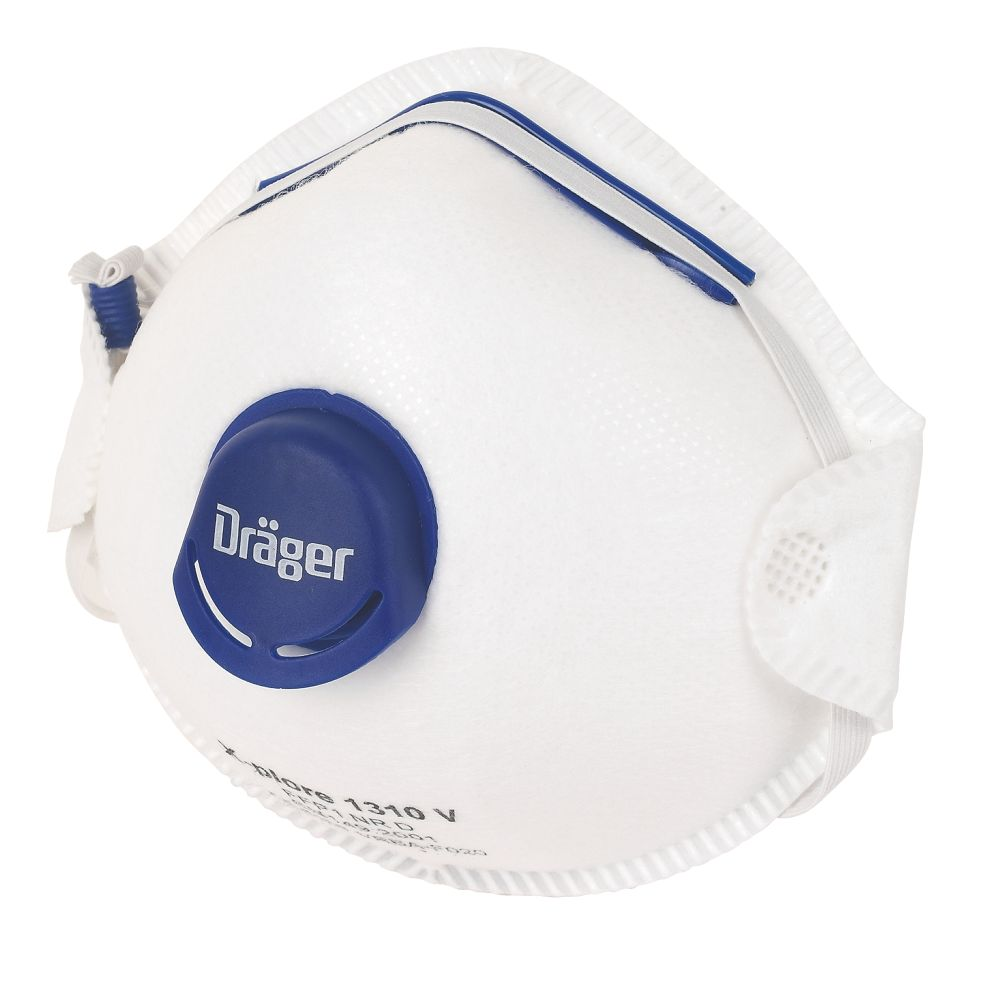 Image of Draeger X-Plore 1310V Cup-Valved Dust Masks P1 10 Pack