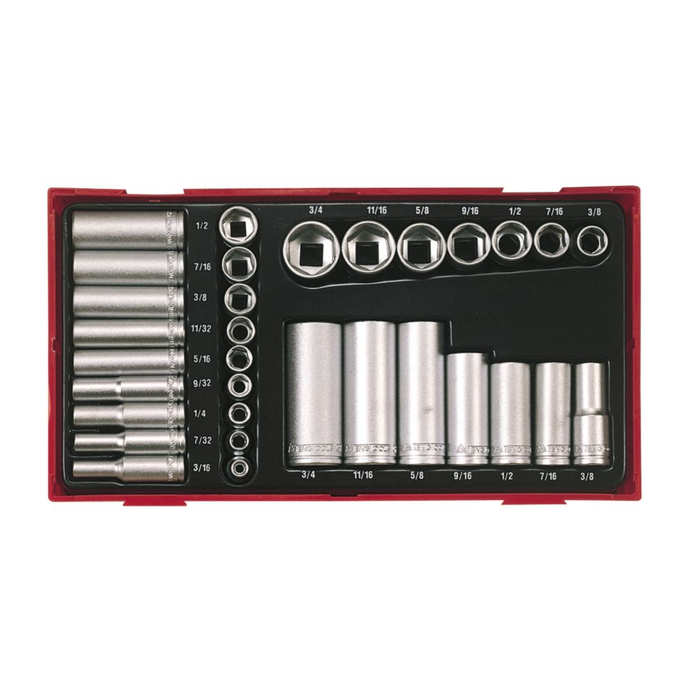 Image of Teng Tools TTAF32 Mixed Socket Set 32 Pieces