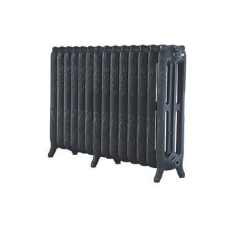 Image of Arroll 3-Column Cast Iron Radiator 760 x 1154mm Black