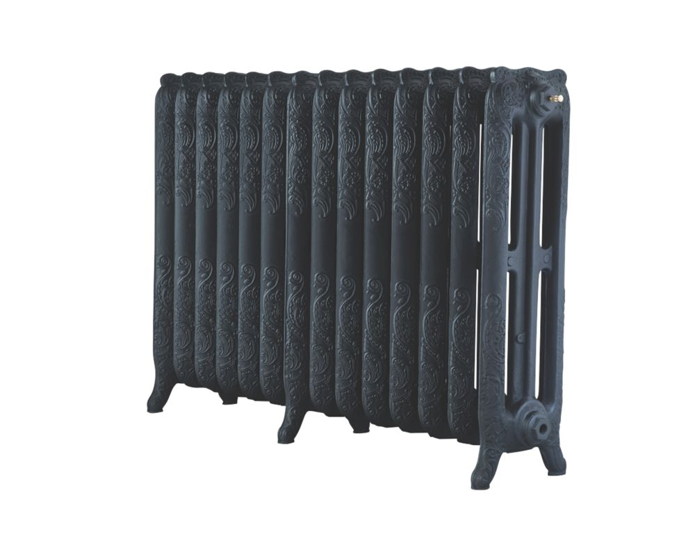 Image of Arroll 3-Column Cast Iron Radiator 760 x 1154mm Black