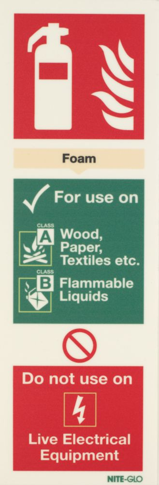 Image of Nite-Glo Foam Extinguisher Sign 300 x 100mm
