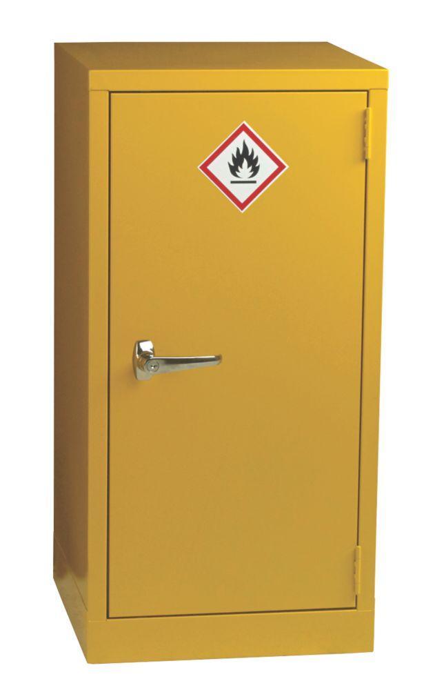 Image of Hazardous Substance Cabinet Yellow 457 x 457 x 915mm