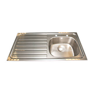 Franke Inset Kitchen Sink Stainless Steel 1 Bowl 1015 x 200mm ...