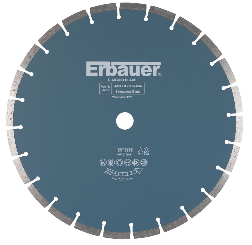 Image of Erbauer Universal Segmented Diamond Blade 350 x 25.4mm