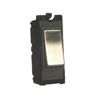 Image of Varilight Z2DG103SS 10A Intermediate Switch Brushed Steel
