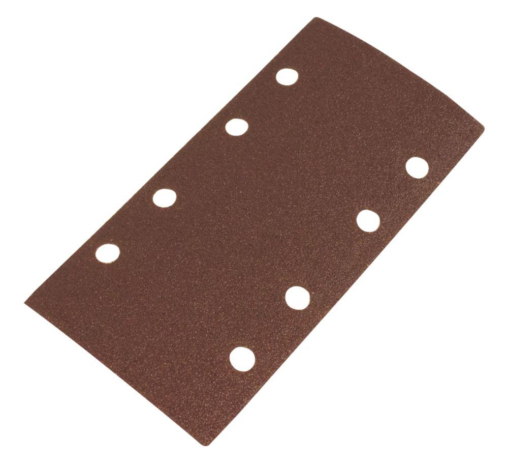 Image of Flexovit ? Sanding Sheets Punched 93 x 185mm 80 Grit 6 Pack