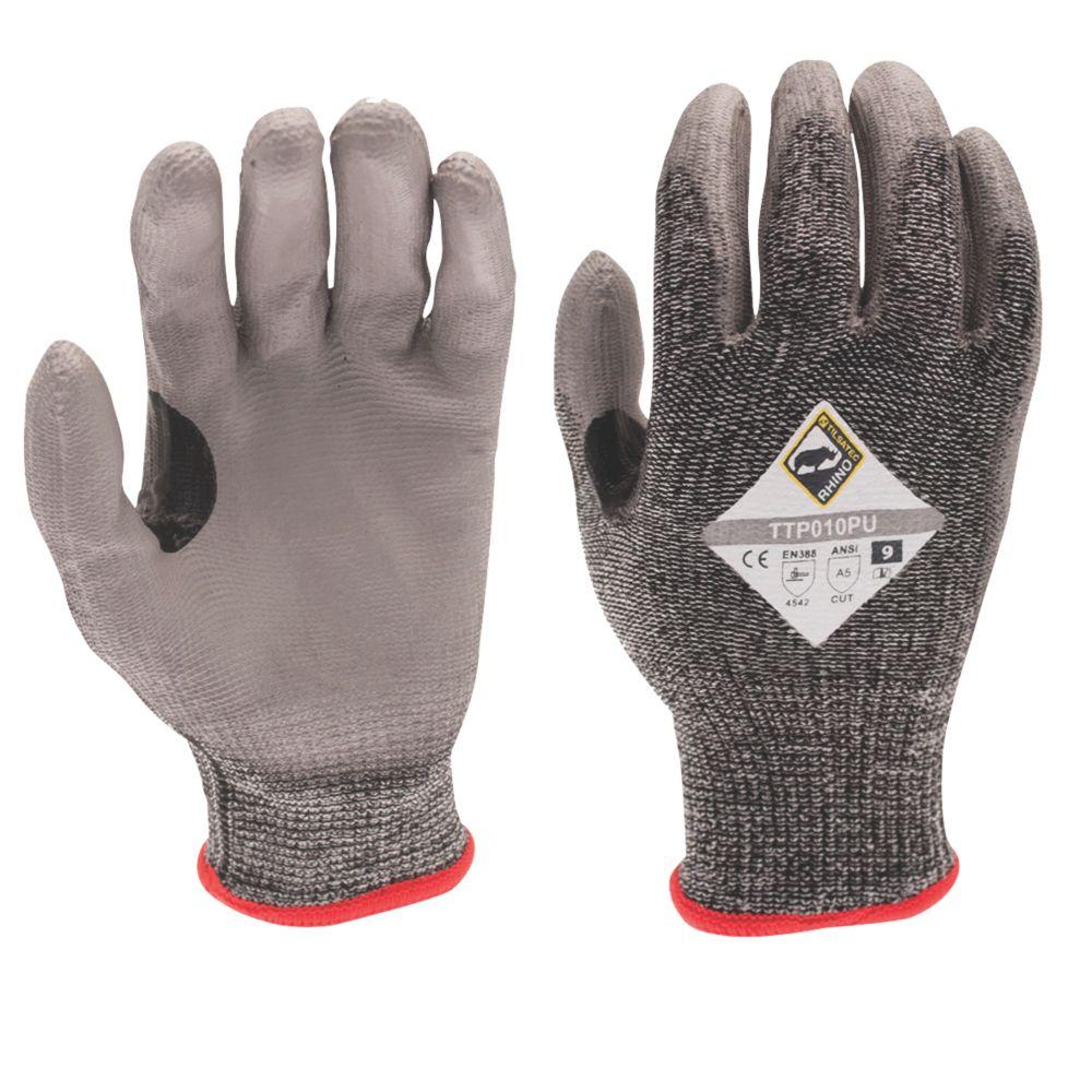 Image of Tilsatec 010PU Cut 5 PU Gloves Grey / Black Extra Large