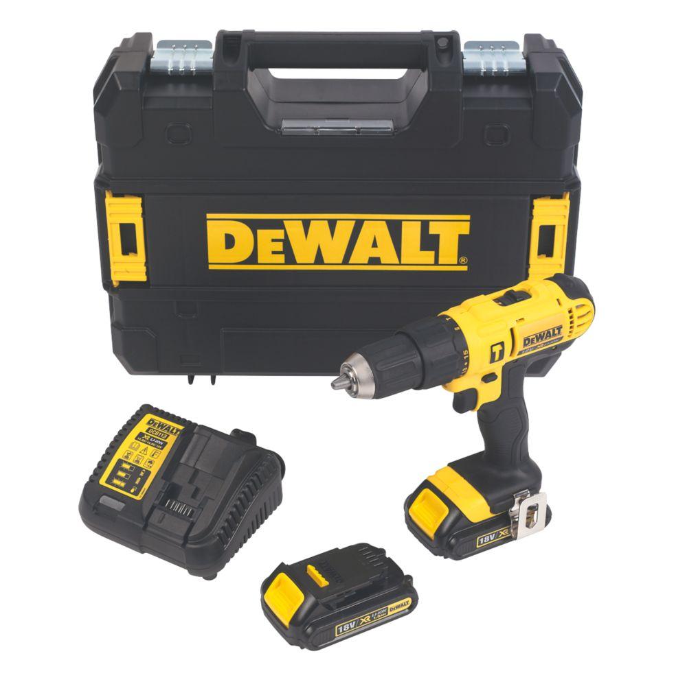 Image of DeWalt DCD776S2T-GB 18V 1.5Ah Li-Ion Cordless Combi Drill