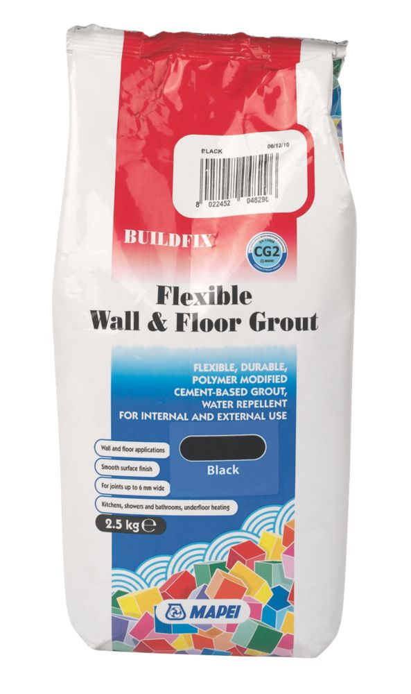 Image of Mapei BuildFix Flexible Wall & Floor Grout Black 2.5kg