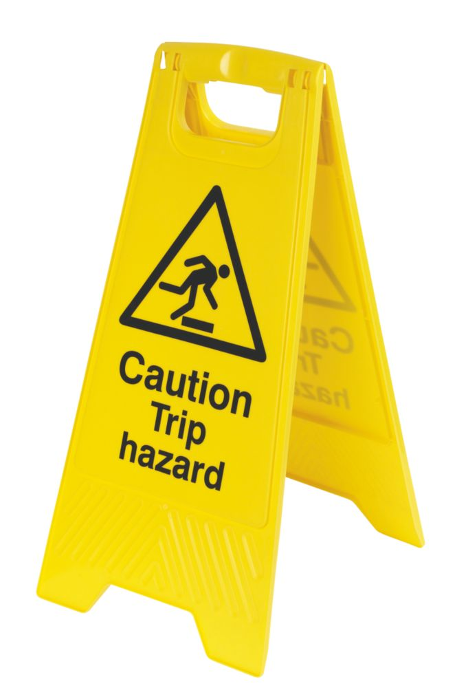 Image of Caution Trip Hazard A-Frame Safety Sign 600 x 290mm