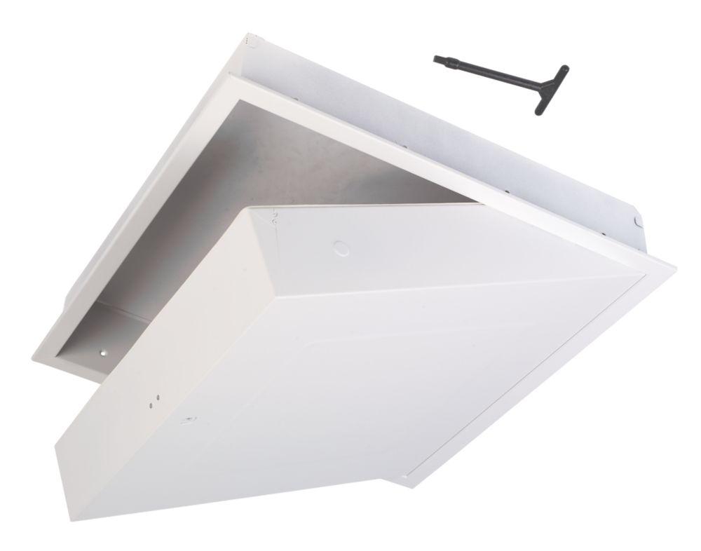 Image of Manthorpe GL270F Fire-Resistant Drop-Down Loft Door White 562 x 562mm