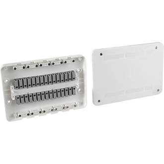 Image of Surewire SW4L-MF 16A 4-Way Pre-Wired Junction Box White