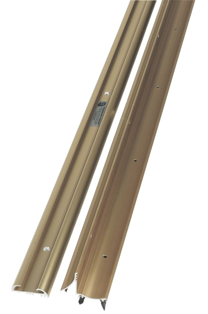 Image of Stormguard 2-Part Trimline Threshold Gold Anodised 914mm