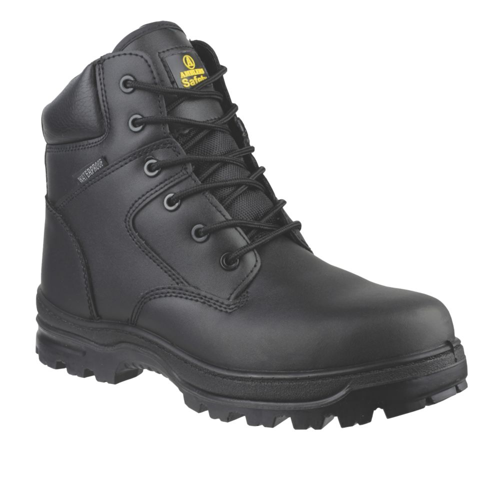Image of Amblers FS006C Metal Free Safety Boots Black Size 8