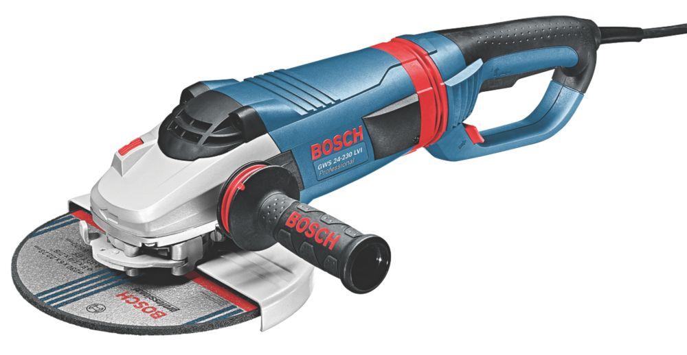 "Image of Bosch GWS 24-230 LVI 2400W 9"" Angle Grinder 230V"
