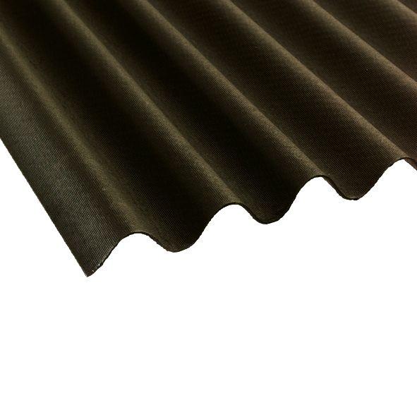 Image of Coroline Corrugated uPVC Bitumen Sheet Black 2000 x 950mm