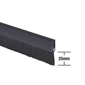 Image of Stormguard Bottom Door Brush Draught Excluder Black 1m