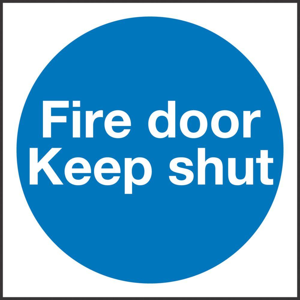 """Image of Fire Door Keep Shut"""" Sign 100 x 100mm"""