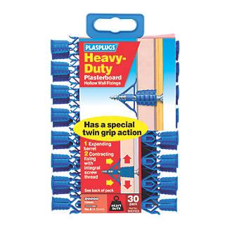Image of Plasplugs Heavy Duty Plasterboard Fixings 10mm 30 Pack