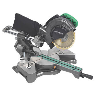 Hitachi C8FSEJS 216mm Single Bevel Compound Sliding Mitre Saw 110V