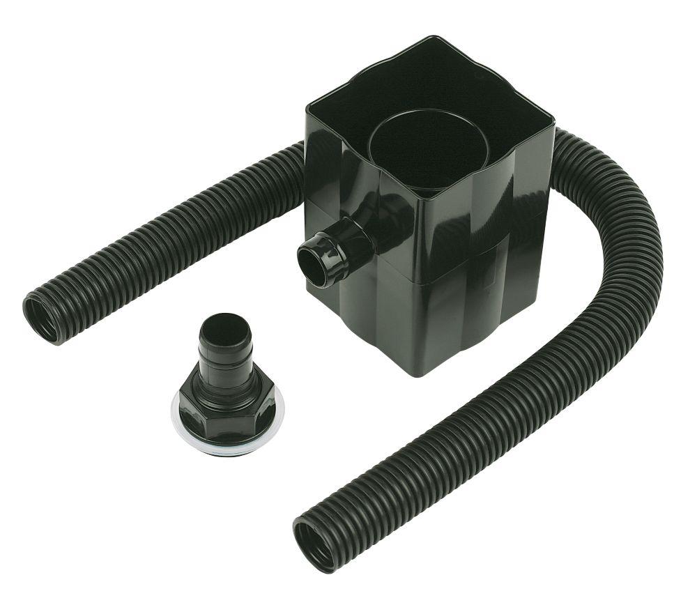 Image of FloPlast Rainwater Diverter 70mm Black