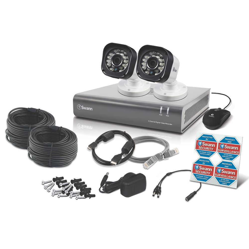 Image of Swann SWDVK-4720P2-UK 4-Channel Security System & 2 Cameras