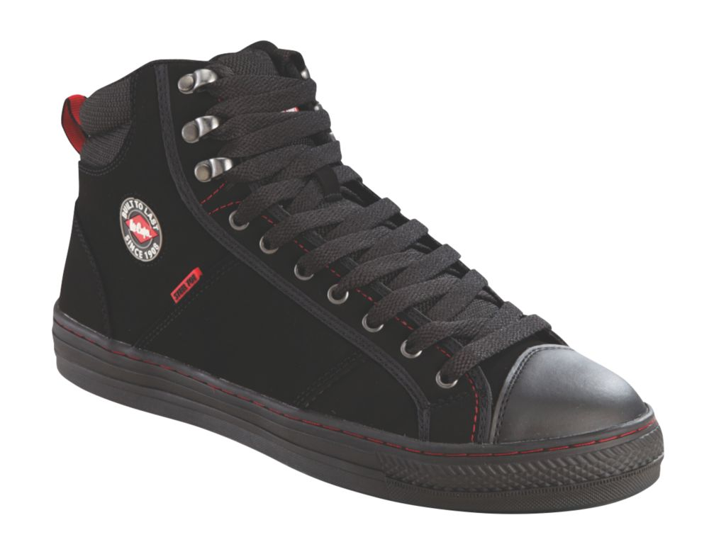 Image of Lee Cooper 022 Safety Trainer Boots Black Size 9