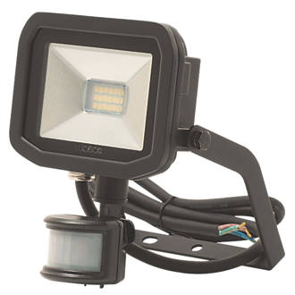 Image of Luceco Guardian LED Floodlight & PIR Black 8W Warm White