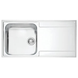 Franke Inset Kitchen Sink 1.2mm Stainless Steel 1 Bowl 1000 x ...