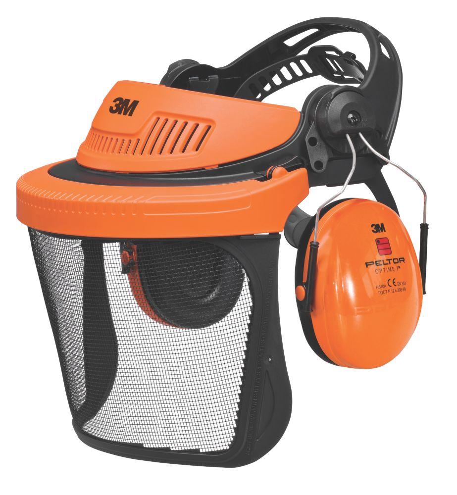 Image of 3M Peltor G500 Forestry Combination with Ear Defenders & Visor Black/Orange
