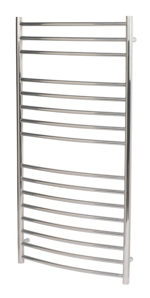 Image of Reina EOS Curved Ladder Towel Radiator Stainless Steel 1200 x 500mm 2147Btu
