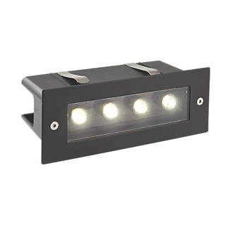 Image of Saxby Seina Recessed LED Brick Light Black 4W
