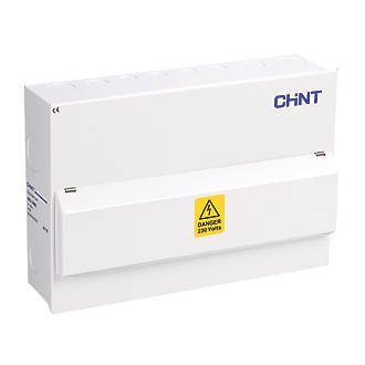 Image of Chint NX3-16MS 16-Module 14-Way Part-Populated Main Switch Consumer Unit
