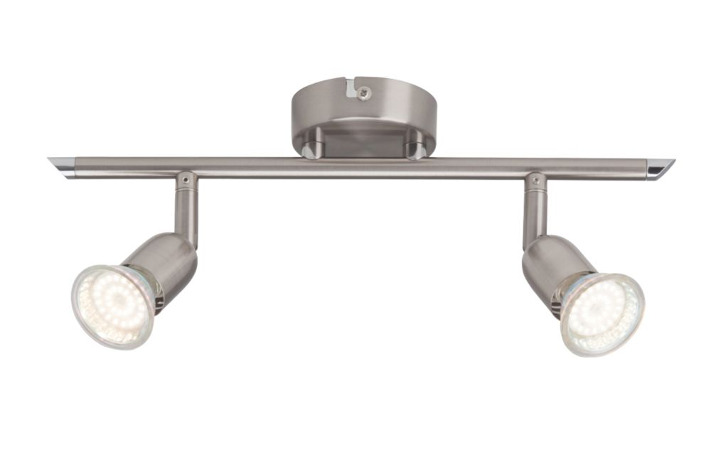 Image of Brilliant 2-Light LED Spotlight Satin Chrome 240lm 3W
