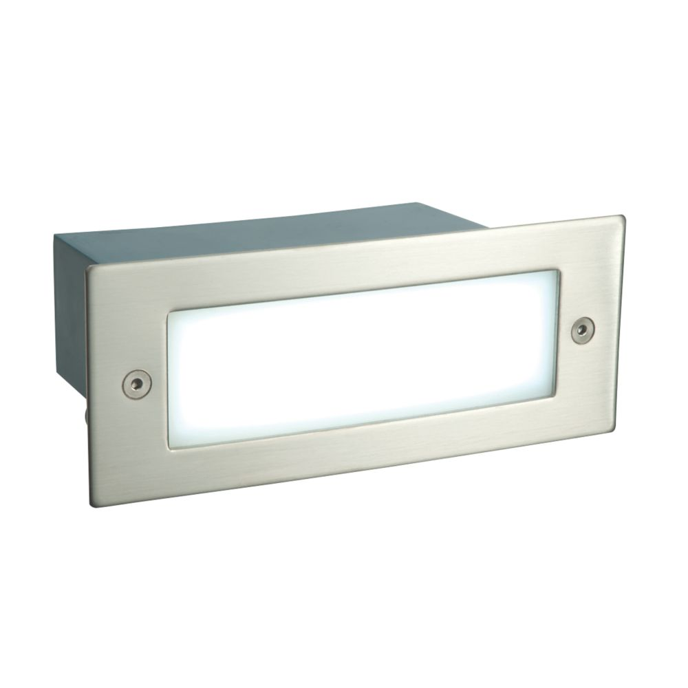 Image of Saxby Kia Recessed LED Brick Light Brushed Stainless Steel 1W