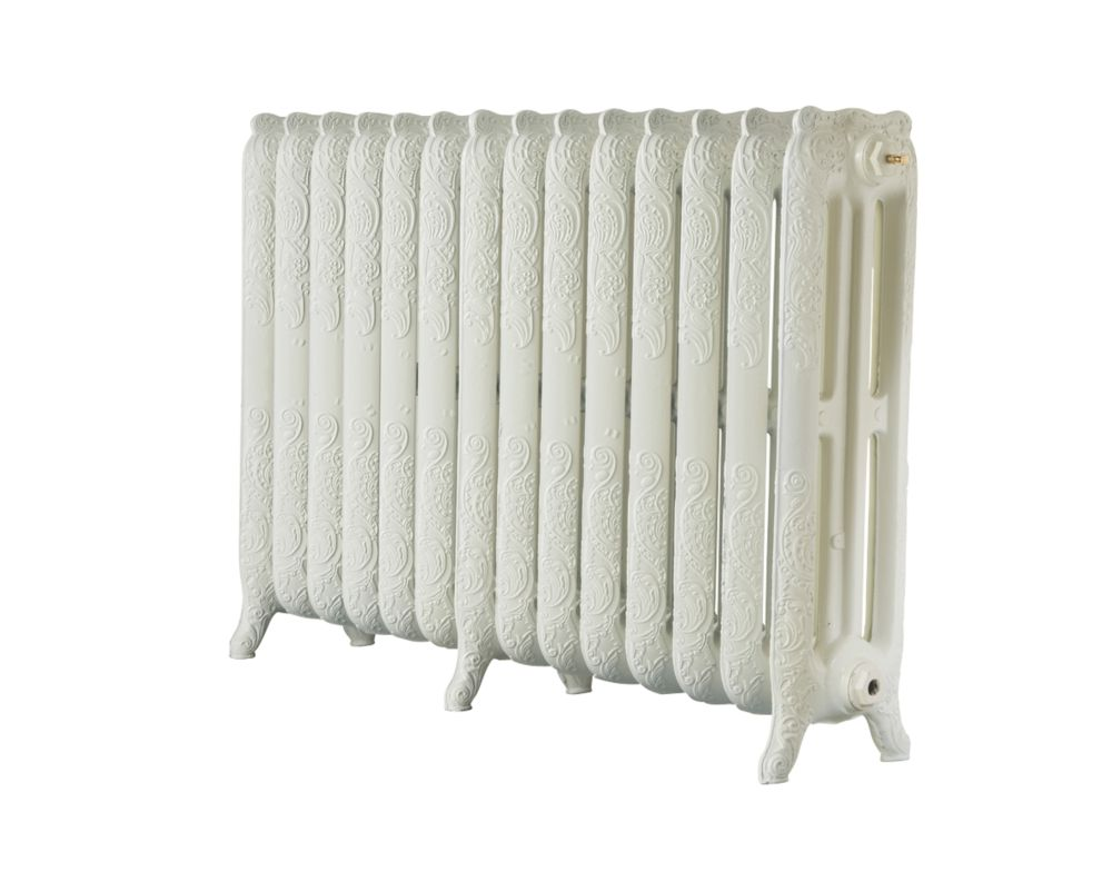 Image of Arroll 3-Column Cast Iron Radiator 760 x 1154mm Cream